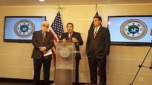 Senadores del PPD, Miguel Pereira, Cirilo Tirado Rivera y Eduardo Bhatia (Foto CyberNews)