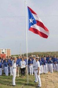 Ondea la bandera de Puerto Rico en la Villa Centroamericana. (Straffon Images COPUR)